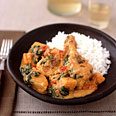Chicken and Vegetables Braised in Peanut Sauce
